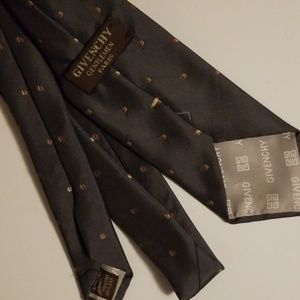 Givenchy Paris Tie Dark Gray 20% Silk